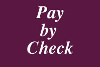 Write a check to begin payment process